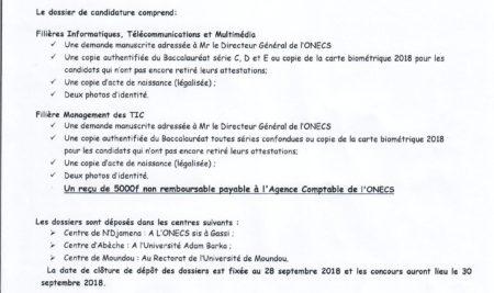 LANCEMENT OFFICIEL DU CONCOURS D'ENTREE EN PREMIERE ANNEE A L'ENASTIC